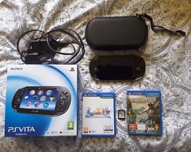 PS Vita WiFi + 3G and 3 games!