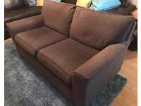 Next, 2 seat sofa, chocolate brown fabric. Great condition.