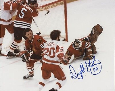 DWIGHT FOSTER DETROIT RED WINGS SIGNED 8x10 PHOTO w/ COA