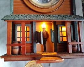 John Wayne Cuckoo Clock Bradford Exchange Western Legends