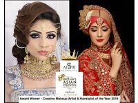 Award Winning Asian Bridal Make up Artist, Hair stylist London, Makeup & Hair Courses Henna artist