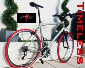Specialized Hybrid Elite Bike XL 61 Mens Racer Off Road Bicycle Red commuter fast Light slick Cycle