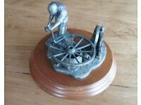 Pewter Wheelwright Figurine/ Ornament by Roger Gibbons from the Evergreen collection