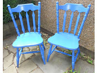2 Large Painted Wooden Chairs - £10 the pair