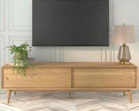 Solid Oak TV Unit BNIB