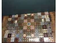 Original Glazed Minton Encaustic Floor Tiles