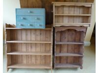 Wall display units and drawer unit