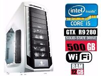 Cooler Master Storm Stryker Core i5-4960K with GTX r9 280 Gaming PC Desktop Computer