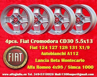 4 rad CD30 Cromodora Simca 1000 1200 Rallye Räder Felgen llantas Jantes TUV (Rallye-räder)