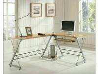 L shape office desk used