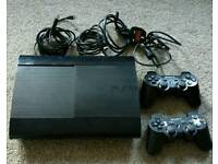 Sony PS3 160gb Console+10 games (Minecraft)