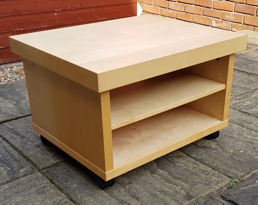 Ikea Small Tv Table Coffee Table 60 X 50cm Shelf Inside On Castor