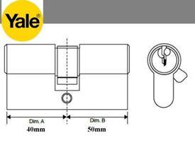 Yale Superior 1 Star TS007 Anti Snap Euro Cylinder 90mm (40x50) Door Lock x 2
