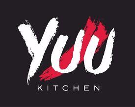 Commis Chef/Kitchen Porter wanted. YUU Kitchen Ltd - A modern Asian Fusion Restaurant