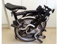 6 Speed Brompton Bike Luggage Rack Dynamo Hub & Light Schwalbe Tyres