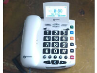 Geemarc Serenities Amplified Telephone c/w SOS Emergency Button & Lanyard Remote