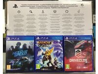 Sony PS4 Slim 500gb Black with 3 Games