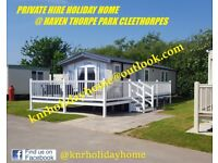 THORPE PARK CLEETHORPES 8 BIRTH 3 BED EXCLUSIVE 2018 PRIVATE CARAVAN FOR HIRE TO LET HAVEN