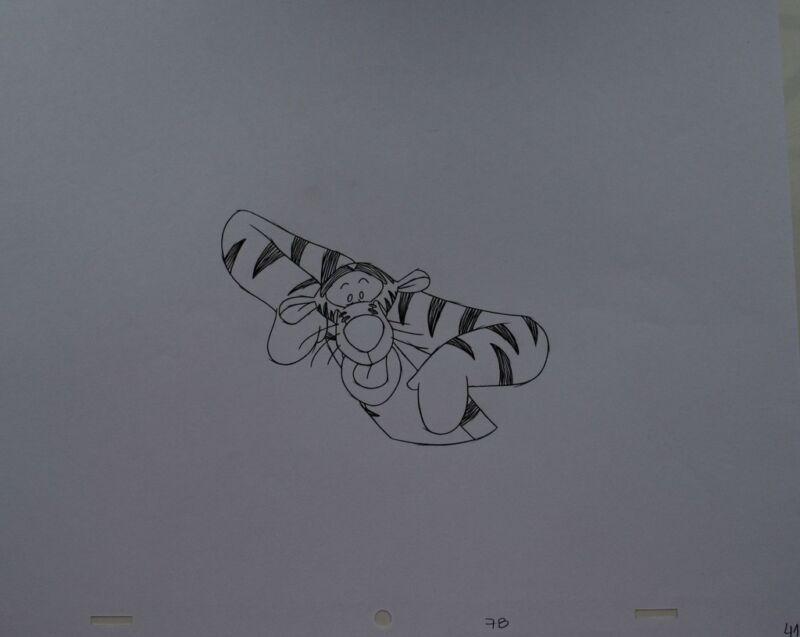 Walt+DISNEY+Animation+Art+Cel+Production+Drawing+Tigger+Winnie+Pooh+%2315