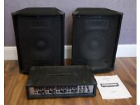 Meridion 4 Channel Power Amplifier & Speakers - Guitar / Band / Kareoke etc.