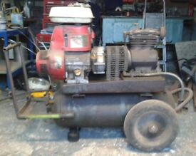 Petrol Air Compressor with 3 Additional Back Up Air Tank
