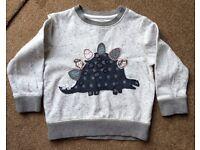 Next, Dinosaur jumper, size 2-3 yrs
