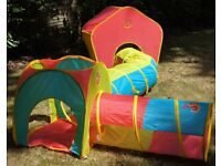 ELC Pop-Up Modular Range - Star Tent, Long Tunnel, Short Tunnel and Connector Cube Bundle