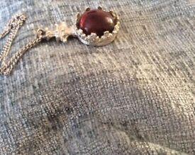 Silver Chain & Amethyst pendant