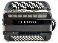 Elkavox 83 - 5-Row / C-System Musette 120 Bass Accordion