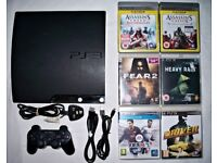 PS3 Playstation 3 slim 160gb with controller and games!!!