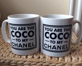You are the Coco to my Chanel Mug Set