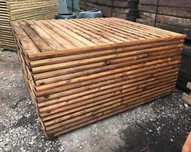 🌳 •New• Brown Pressure Treated Feather Edge Straight Top Wooden Garden Fence Panels ~ Various Sizes