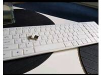 White bluetooth keyboard