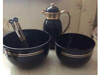 Insulated Coffee Jug and Salad Bowls