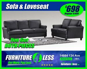 BRAND NEW 2-PIECE SOFA AND LOVESEAT-GET IT TODAY FOR ONLY $698.