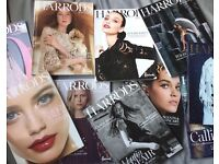 Harrods fashion magazines bundle, 10 items In a very good condition, collectors items