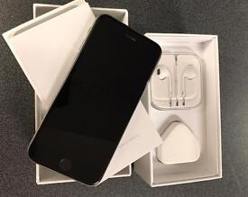 Apple iPhone 6s - 16GB - Space Grey (Unlocked) Smartphone (Dark blue silicone case included)