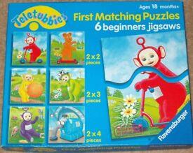 Teletubbies First Matching Puzzles - 6 beginners jigsaws