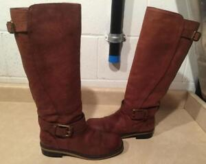 Womens Size 8 Lucky Brand Leather Boots