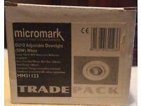 6 x Micromark MM31123 GU10 Mains Voltage Downlights / Spotlights - White