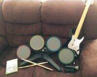 XBox 360 - Rock Band accessories + Beatles Rock Band game