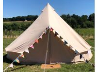 5m Bell Tent - Cotton Canvas Zipped in Groundsheet - C&ing Yurt Tent & Bell tent | Tents for Sale - Gumtree
