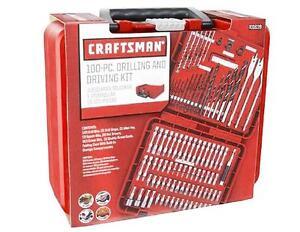 craftsman tools 100pc drill driver power bits set w case alloy steel new. Black Bedroom Furniture Sets. Home Design Ideas