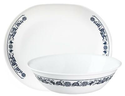 Corelle OLD TOWN BLUE Onion Serving PLATTER or 1-Qt Serving BOWL *Navy White (Corelle Microwave Safe Platter)