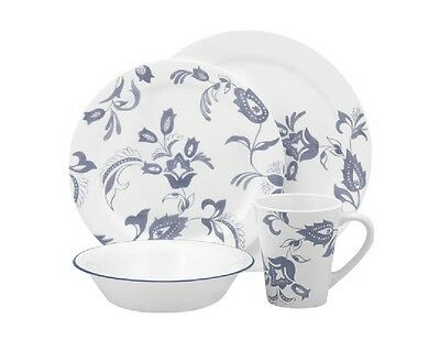 16pc Corelle PROVENCAL Dinnerware Set/ Gloomy French Floral /Plates Bowls Mugs NEW