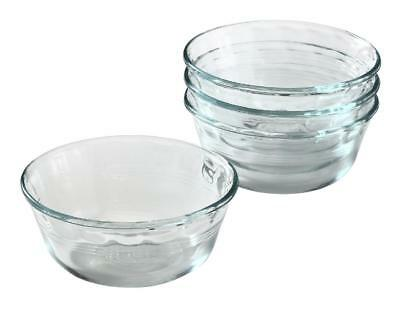 4 PYREX 10-oz Glass CUSTARD CUPS Bake Prep Dessert Clear Side Dish Sauce # (10 Ounce Custard Cup)