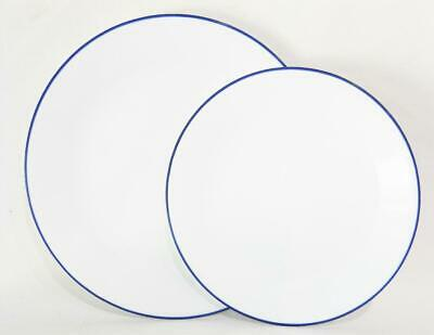 1 NEW Corelle BLUE RIM HOOPS  >Choose DINNER or LUNCH PLATE Breathtaking Cobalt Cobalt Blue Luncheon Plate