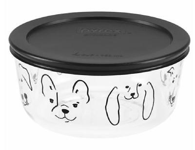Pyrex MY BEST FRIEND 4 Cup Glass Storage Bowl & Cover *ADORABLE PUPPY DOG