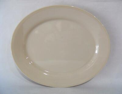 *MINT Corelle Comcor SANDSTONE 9 1/2 x 7 3/4 OVAL PLATTER Entree Plate Beige Tan