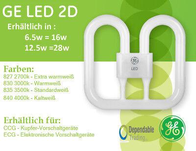 GE LED 2D Lampe 6,5w = 16w 12,5w = 28w CFL Ersatz DD Schmetterling Lampe CCG ECG ()